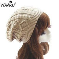 Womens Fall Fashion Hats Twist Pattern Beanies Winter Gorros for Female Knitted Warm Skullies Touca Chapeu Feminino 1MZ0504