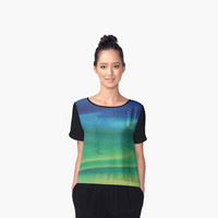 'Sunset Digital Painting v2' Women's Chiffon Top by ChessJess