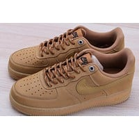 NIKE AIR FORCE 1'07 new wheat suede