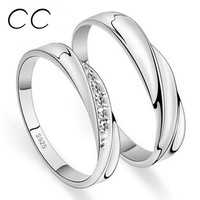 Couple Rings For Lovers White Gold Plated Wedding Engagement Promise Rings Set Bague Bijoux Accessories Fashion Jewelry CC109