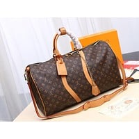 Kuyou Gb29810 Lv Louis Vuitton Keepall 50 Monogram Solar Ray Soft Travel Bag 50.0x 29.0x 23.0 Cm
