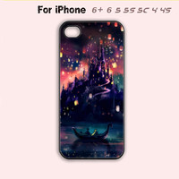 Tangled Castle Phone Case For iPhone 6 Plus For iPhone 6 For iPhone 5/5S For iPhone 4/4S For iPhone 5C-5 Colors Available