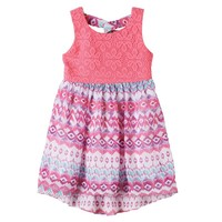 Youngland Aztec Print High-Low Dress - Toddler Girl, Size: