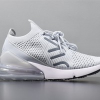 Nike Air Max 270 Flyknit MEN/white jogging shoes/AO1023-003