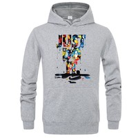 Just Do It Graffiti Printed Mens Casual Designer Hoodies Hooded Sweatshirts Male Female Hip Hop Pullover