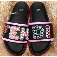 FENDI Leather slides Slipper-1