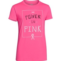 Under Armour Girls' Power In Pink Graphic T-Shirt