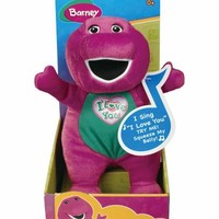 "Russ Berrie Barney Singing ""I Love You"" Song Plush"