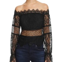 KENDALL + KYLIE Off-The-Shoulder Lace Top | Bloomingdales's