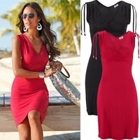 Sexy Summer Bandages Evening Party Cocktail Mini One Piece Dress [7896457607]