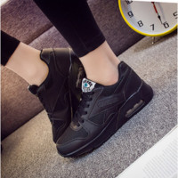 Fashion Casual Breathable Net Stitching Thick Bottom Air Cushion Sneakers Women Running Shoes