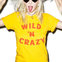 Petals and Peacocks Wild N' Crazy Tee Yellow