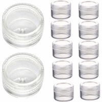 2017 New arrival 50pcs 3g Clear Plastic Empty Cosmetic Sample Containers Jars Pots Small Lip Eyeshadows Creams box Maquiagem