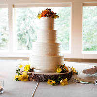 """10"""" Rustic Wood Tree Slice Wedding Cake Base or Cupcake Stand for your Event and Party or even a Newborn Photo Prop - Centerpiece Decoration"""