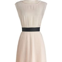 BB Dakota Mid-length Cap Sleeves A-line Prosecco at the Party Dress