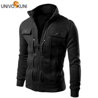 UNIVOS KUNI Hoodies Men Fleece Sweatshirts Fashion Spring Autumn Men's Sportwear Slim Fit Tracksuits Suit ZHY1292