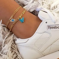 Eye Butterfly Anklet Set
