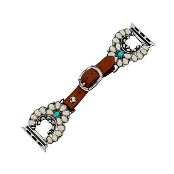 White Western Squash Blossom Apple Watch Band