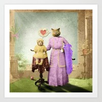 Momma Kitty Loves Her Kitten Art Print by petergross