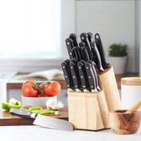 AmazonBasics Premium 18-Piece Knife Block Set