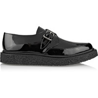 Saint Laurent - Monk-strap patent-leather creepers