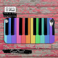 Rainbow Piano Keys Cute Tumblr Inspired Colorful Case iPod Touch 4th Generation or iPod Touch 5th Generation Rubber or Plastic Case