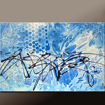 Abstract Canvas Art Contemporary Painting by Destiny Womack - dWo - UNLEASHED