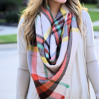 Cute & Cozy Plaid Scarf-Pumpkin