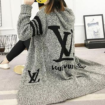 LV Louis Vuitton Adidas Hooded Sweater Knit Cardigan Jacket Coat