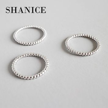 SHANICE 100% 925 sterling silver beaded classic design delicate stack rings simple stack stackable eternity band rings