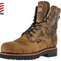 "Justin Brands Gaucho CD441 8"" Steel Toe Work Boots"