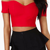 Strapless Short T-Shirt