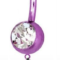 Browning PREMIUM Purple Titanium Anodized Sexy Belly Button Ring