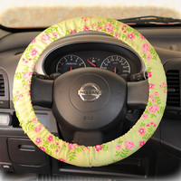 Steering-wheel-cover-for-wheel-car-accessories-Non-Yellow-Floral-Wheel-cover