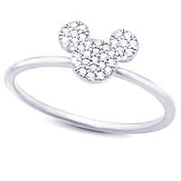 Mickey Mouse Icon Ring by CRISLU - Platinum