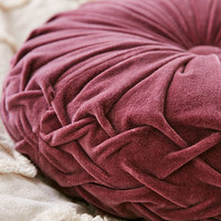 Round Pintuck Pillow | Urban Outfitters