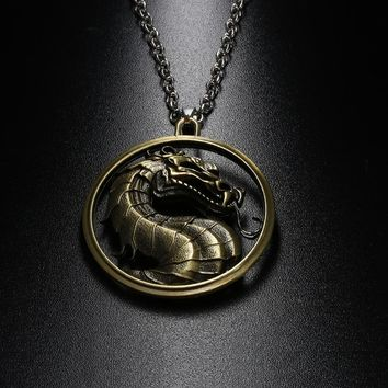 Game Of Thrones Daenerys House Targaryen Three Headed Dragon Pendant Necklace for Men Metal Pendant Movie Jewelry