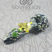 Frogger Spoon Pipe by Empire Glassworks