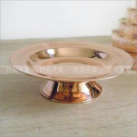 Copper alloy tray, fruit plate, religious ceremonial decoration plate,Diameter 21cm
