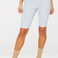 Light Grey Slinky Longline Cycle Short