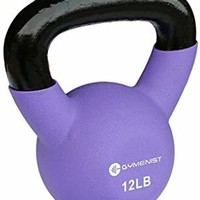 GYMENIST Kettlebell Fitness Iron Weights with Neoprene Coating Around The Bottom Half of The Metal Kettle Bell