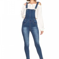 Ladies Denim Overalls Pants ()