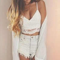 Lace Crop   Spoiled Rotton