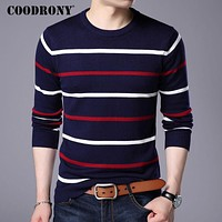 O-Neck Pullover Men Clothing Winter New Arrival Cashmere Wool Sweater Men Casual Striped Pull Men