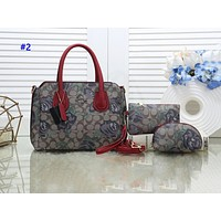 COACH fashion three-piece one-shoulder printed shopping bag #2