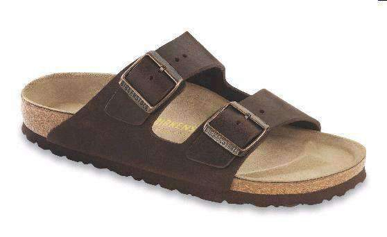 Image of Women's Arizona Sandal with Oiled Leather with Soft Footbed in Habana by Birkenstock