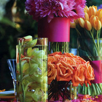 """Glass Cylinder Vases 12""""  $6.99 each / 6 for $5.99 each"""