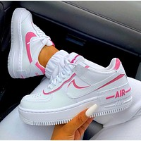 Inseva Nike Air Force 1 AF1 Low-Top Joker Flat Sneakers Shoes Color Add to edge Pink