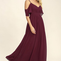 Ways of Desire Wine Red Maxi Dress
