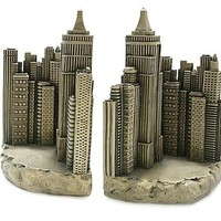 New York City Skyline Architecture Famous Places Bookends 8H